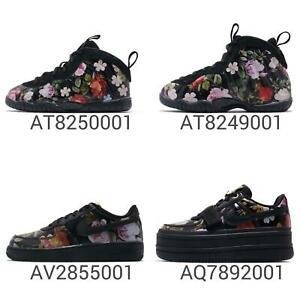 new concept 4ae95 2b19a Details about Nike Wmns Little Posite One / Vandal 2K / Force 1 Black  Floral Women Kids Pick 1