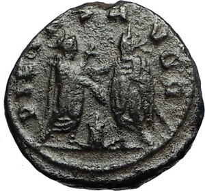 GALLIENUS-amp-Father-VALERIAN-I-at-Altar-Authentic-ANCIENT-255AD-Roman-Coin-i67212