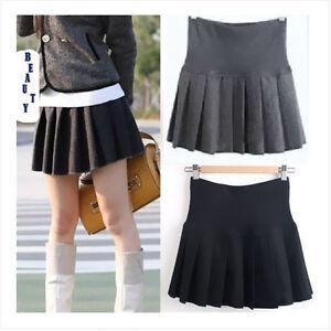 1pc school mini skirt s dress wool pleated
