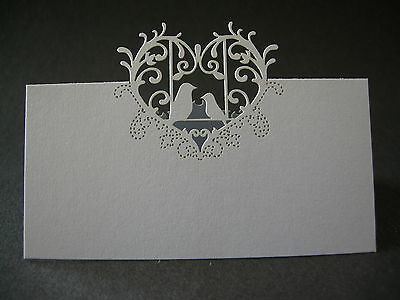 100 White Love Birds Table Place Cards  Weddings, Christenings, Baby Showers