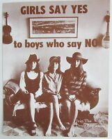 Vietnam War Draft Resistance Sepia Girls Say Yes Boy Say No 11 X 14 Poster