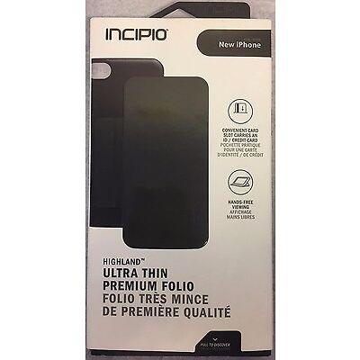 New Original Incipio Highland Thin Folio Card Wallet Case For iPhone 6/6s Black!