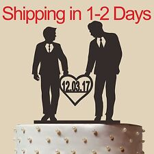 "Homosexual Wedding Cake Topper, Same Sex,Gay wedding cake topper,Made in USA, 6"""
