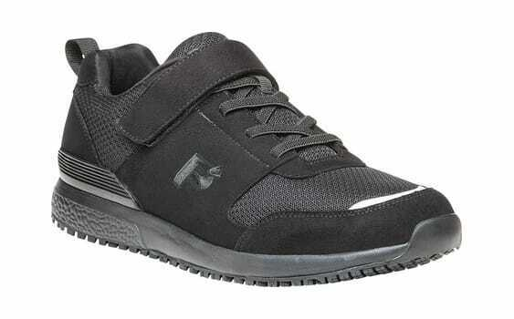 Propet Men's Stewart Walking shoes Black Mesh Microfiber Hook and Loop