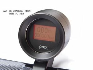 """Digitale mph km/H Moto Tachimetro Matt Nero 1 """" (25mm) Supporto Manubrio GPS"""