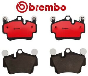 NEW Rear Ceramic Brake Pad Set with Sensors Brembo For Porsche Boxter Cayman