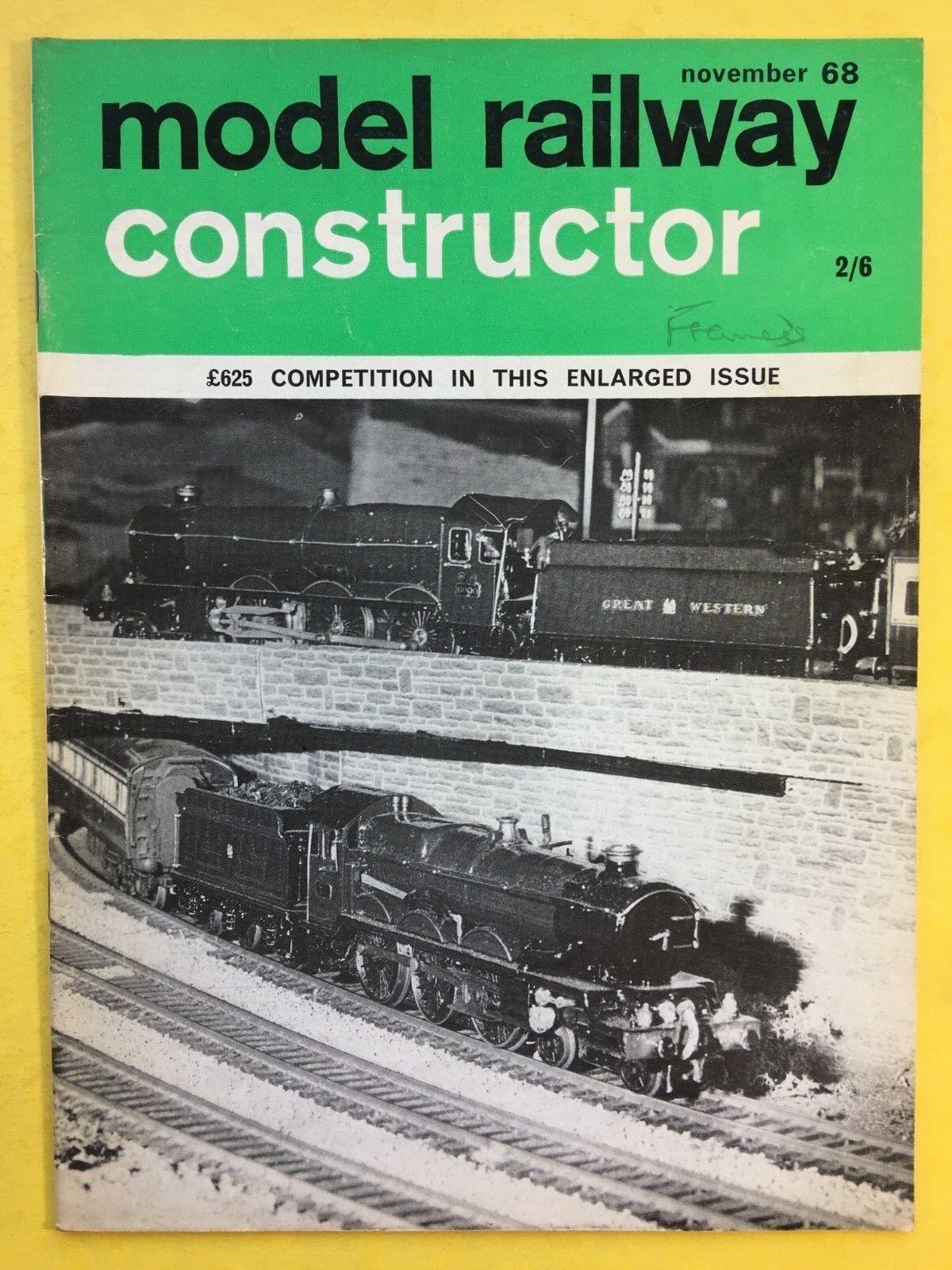 Modélisme Ferroviaire Constructeur - Novembre 1968 - Rail & Train Modeleur Revue