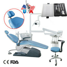 Dental Unit Chair Hard Leather Computer Controlled Dc Motor Handpiece Kit 4h Sa