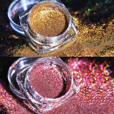 2 Boxes Holographic Laser Glitter Nail Powder Gold Red Pigment Dust Decor Tips