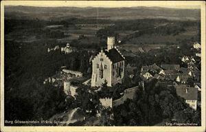 Gössweinstein alte Ansichtskarte ~1920/30 Blick auf die Burg Fliegeraufnahme