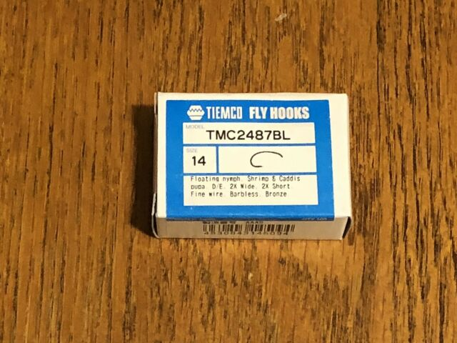 TIEMCO 100 PACK TMC5263 SIZE 14 NYMPH FLY FLY-TYING HOOKS