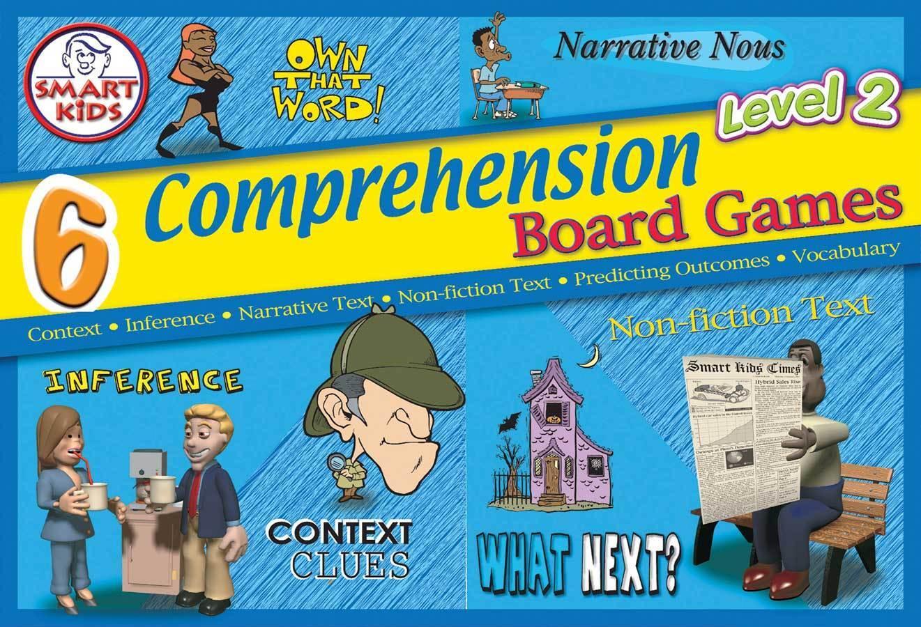 Smart Kids 6 Comprehension Board Games Level 2 - Develop Skills - NEW