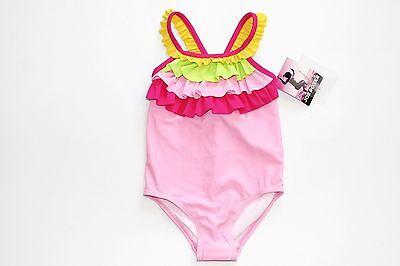 Swim Suit Sz 2T 1582 NWT Toddler Girl/'s Joe Fresh Pink Ruffle 1 Piece UPF 50