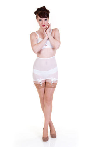 sizes S 5XL six strap 025 Sheer Powernet Roll-on Girdle