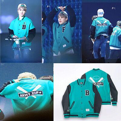 Kpop BTS Jung Kook Coat Bangtan Boys Baseball Jumper ARMY.ZIP+ Varsity Jacket V