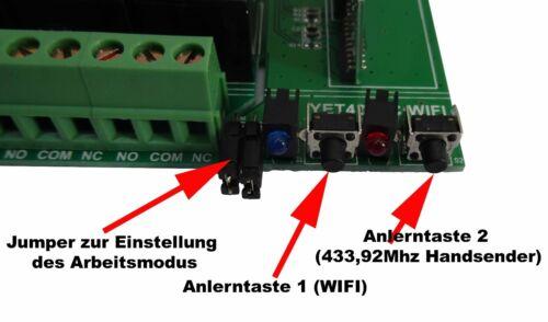 transmisor de mano 12v 4 canal WLAN WiFi 433mhz radio sonda destinatarios puerta del garaje