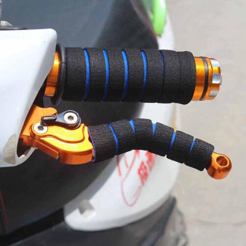2 Pair Motorcycle Bicycle HandleBar Grip+Brake Clutch Lever Soft Sponge Cover US