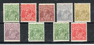 Australia-1924-25-Sidehead-set-to-4-1-2d-MNH-MH
