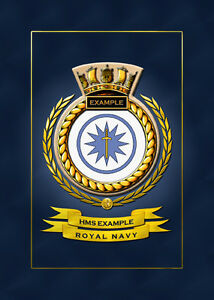 hms example ships badge crest hundreds of hm ships in stock ebay