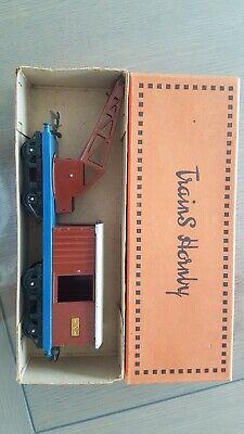 Ospitale Ancien Hornby O Gauge O Meccano Wagon - De Secours Avec Grue / Boite D'origine