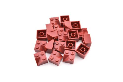 TCM Compatible Bricks Dark Red Slope 45 2 x 2 Double Concave QTY 10 Pieces