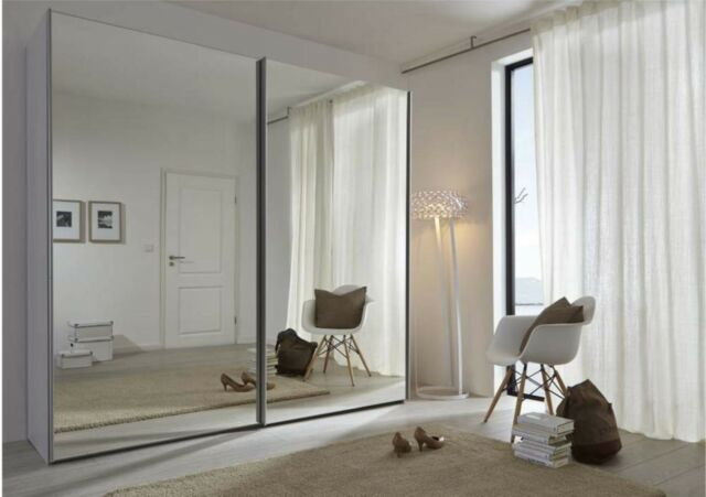 Schlafzimmer Silver Komet 2.3m German Sliding Wardrobe  Mirror Door
