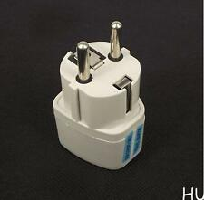 White US UK to EU Euro Plug AC Power Travel Home Charger Adapter Converter XAC