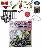 Bad Girl Photo Prop Set W/20+ Adult Themed Props Bachelorette Night B-day Party