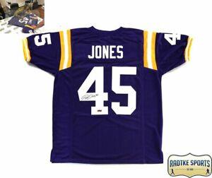 designer fashion 30eba 66b60 Details about Deion Jones Signed LSU Purple Custom Jersey