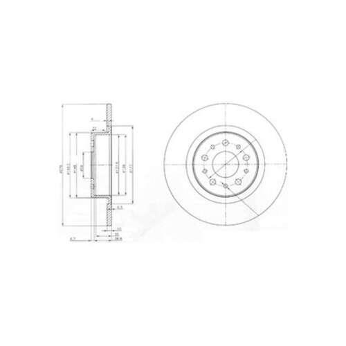 BG3857 Genuine Delphi Rear Solid Brake Discs Set Pair