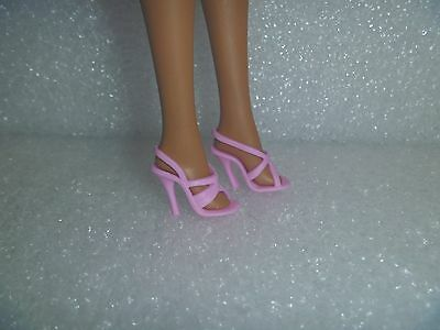 Barbie Light Baby Pink Kitty Cat Wedge Heel Sandals Shoes  Necklace