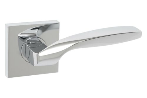 Dummy Passage Privacy Catena Modern Square Interior Door Lever in Chrome
