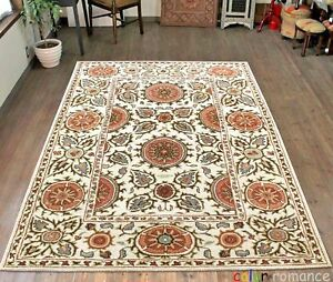 Old-Handmade-suzane-Parsian-Traditional-Style-Wool-Area-Rugs-amp-Carpet