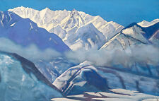 Lake of the Nagas  by Nicholas Roerich  Giclee Canvas Print Repro