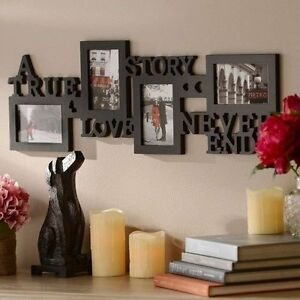 Valentines Day Gifts Ideas Love Wall Picture Frame Black Collage Him