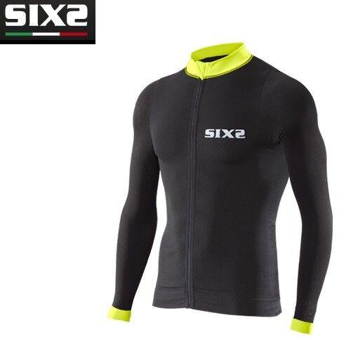 Maglia Maglietta Bike Jersey maniche lunghe Bici SIXS negro amarillo BIKE4 STRIPES