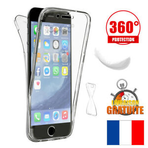 COQUE-HOUSSE-ETUI-TOTAL-360-POUR-IPHONE-6-5-7-8-X-PROTECTION-TPU-GEL-SILICONE