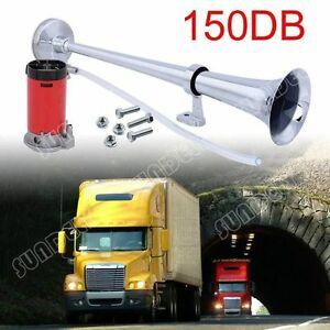 150db super loud 12v single trumpet air horn compressor truck lorry image is loading 150db super loud 12v single trumpet air horn publicscrutiny Choice Image