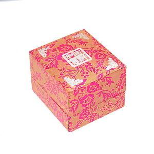 1 Boîte à Bague Motif Rose Porte Bijoux Cadeau Écrin Rangement 5x4.5x3.7cm Mode Attrayante