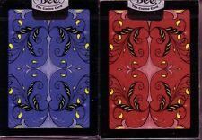 2 OHIO MADE RJRTC Watermelon Bee USPC Blue & Red Playing Cards Decks!