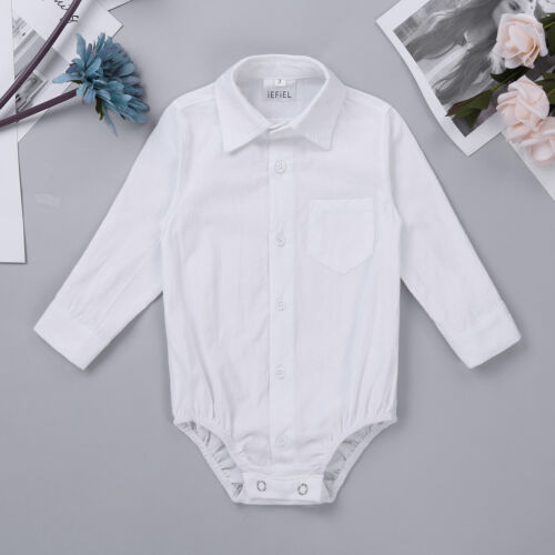 Baby Boys Long Romper Body Suit T-Shirt Outfit Wedding Birthday Bodysuit Clothes