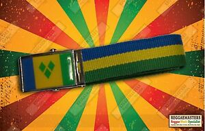 ST VINCENT   GRENADINES BLUE GOLD AND GREEN BELT CARIBBEAN PRIDE ... 71503388b770