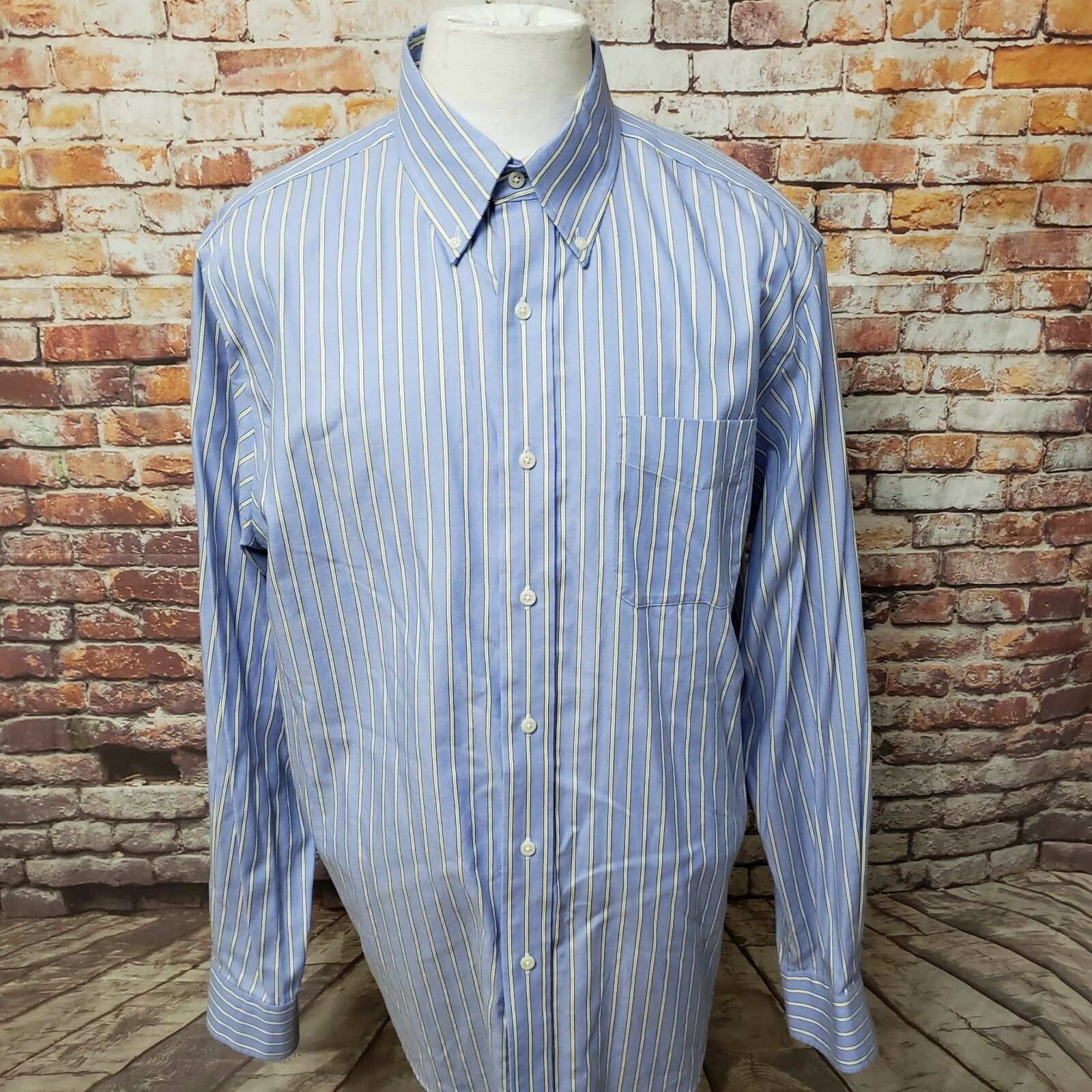 1e3ed202434 LAUREN RALPH LAUREN MEN S STRIPED NON IRON DRESS SHIRT SIZE 17-36 37 A29-