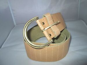 Belle-ceinture-en-cuir-BEG-vintage-a-saisir-Belt