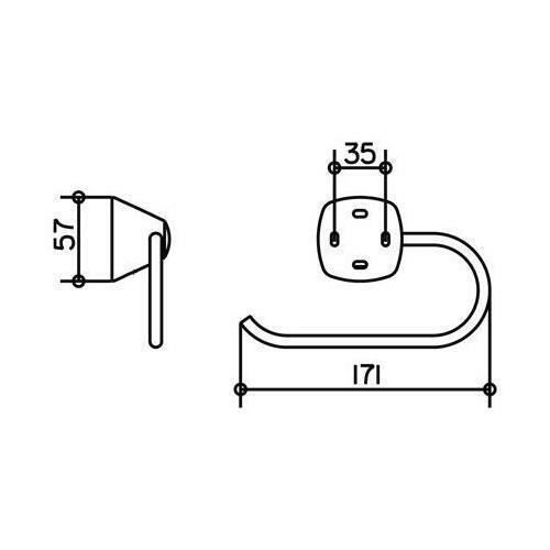 Keuco Toilettenpapierhalter City.2 verchromt 02762010000