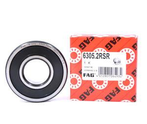 FAG 6302-2RSR Deep Groove Ball Bearing 15x42x13mm 4-PACK 2 Rubber Seals NEW