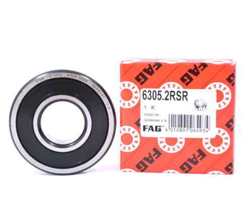 FAG 6301.2RSR Deep Groove Ball Bearings 12 x 37 x 12mm
