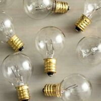 Replacement Globe Light Bulb, G30, 5w/130v, E12 Base, Clear, 25 Pack, New, Free on sale
