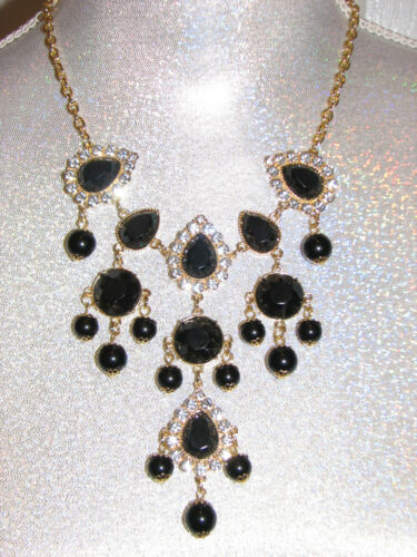 NWT LILLY PULITZER SWEETHEART NECKLACE BLACK ONYX BAUBLE GEMS /& STONES BEAUTY!!!