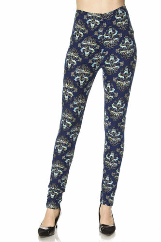 ONE SIZE Buttery Soft Always Brushed Wallpaper Leggings TC//46